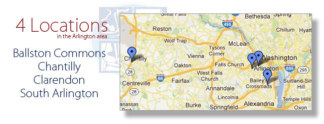 Nova Pain and Rehab has 4 locations in Virginia | S. Arlington | Chantilly | Clarendon | Ballston Commons